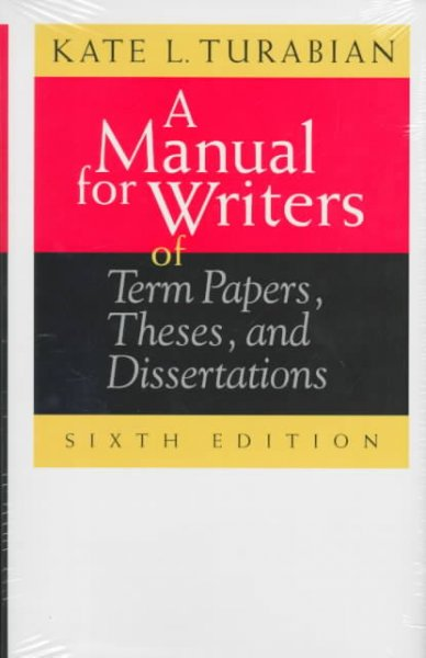 turabian a manual for writers of term papers Custom term paper writing service established by our team is a good value for money reasons for buying college term papers from us college term papers.