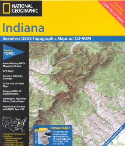 Indiana : seamless USGS topographic maps on CD-ROM ...