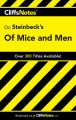 Go to record CliffsNotes Steinbeck's Of mice and men