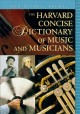 Go to record Harvard Concise Dictionary of Music